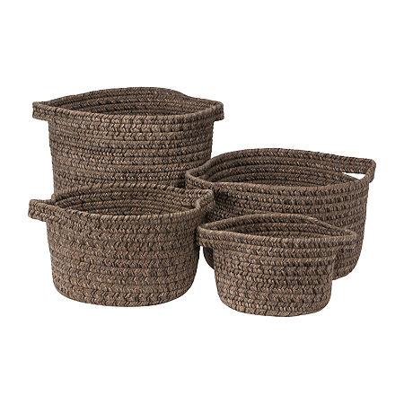 Colonial Mills Grafton Tweed Braided Basket, One Size , Brown