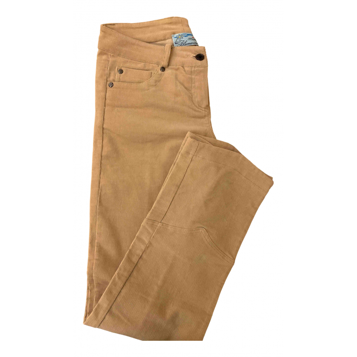Blumarine N Camel Cotton Trousers for Kids 12 years - XS FR