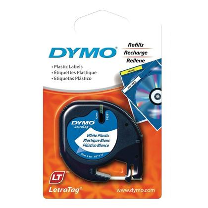 DYMO 91331 LetraTag Original Label Tape, 12mm (1/2