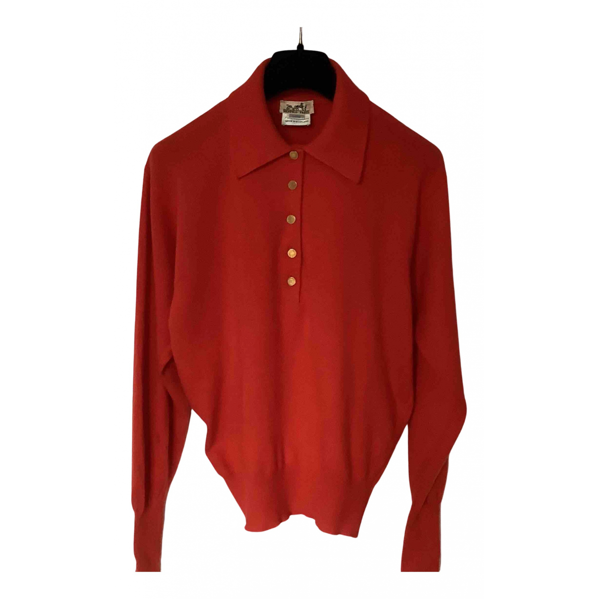 Hermès N Red Cashmere Knitwear for Women 40 FR