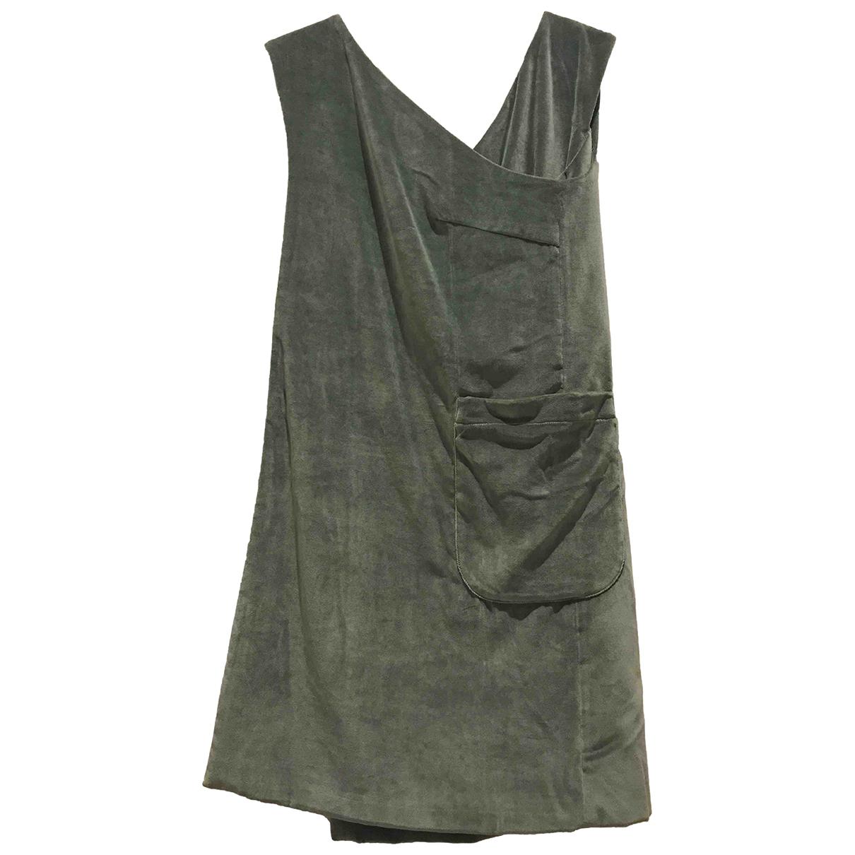 Cacharel - Robe   pour femme en velours - kaki