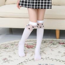 Toddler Girls Velvet Long Stockings