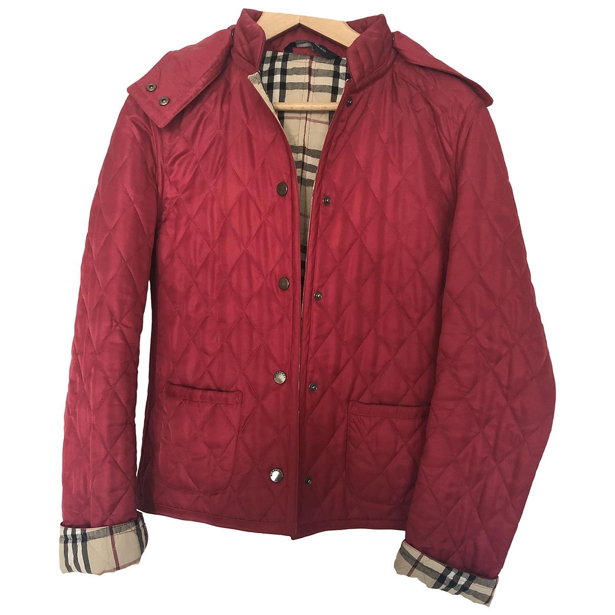 Burberry \N Burgundy coat for Women 6 UK