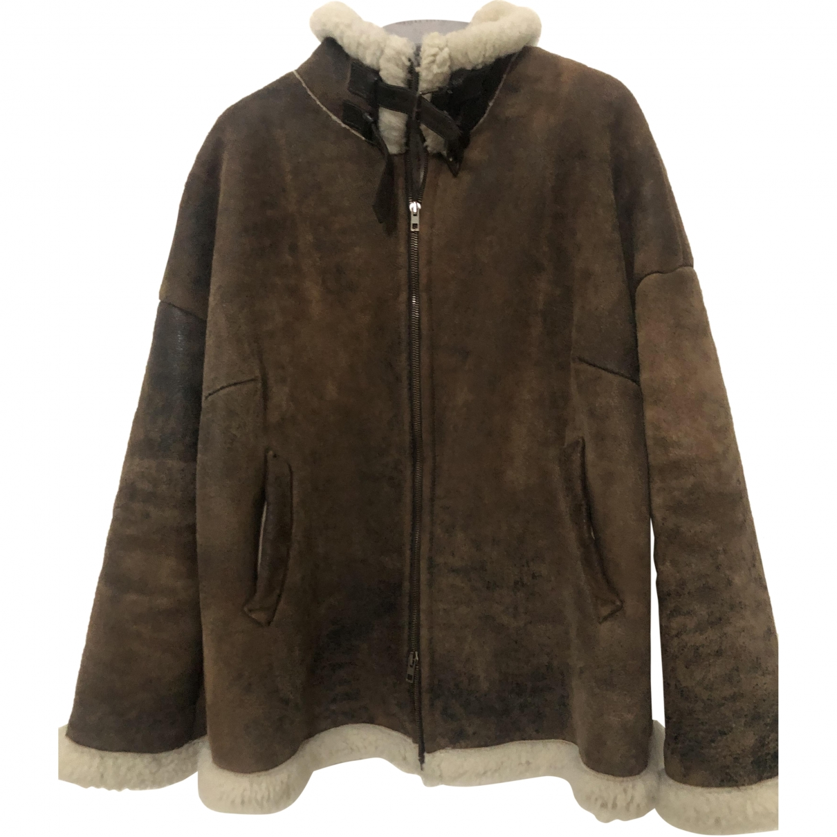 Non Signé / Unsigned \N Brown Shearling jacket for Women 42 FR