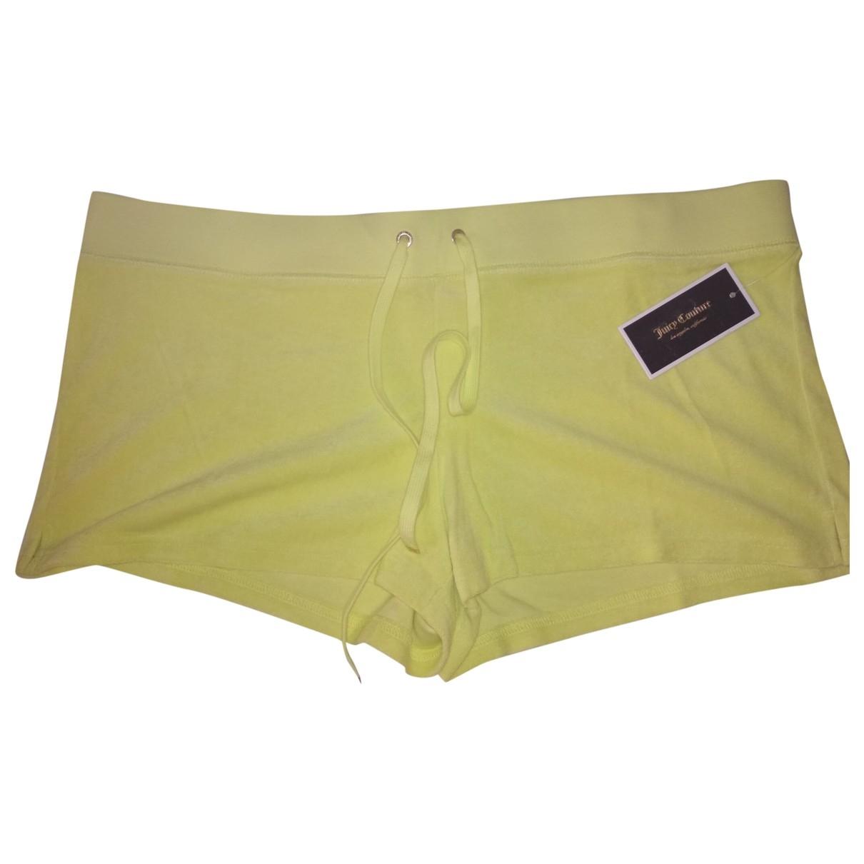 Juicy Couture \N Shorts in  Gelb Baumwolle