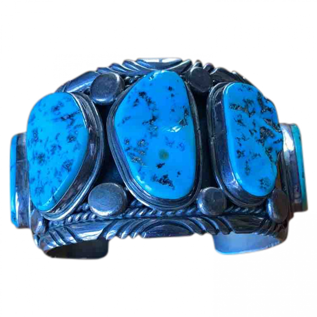 Non Signe / Unsigned Turquoises Armband in  Blau Silber