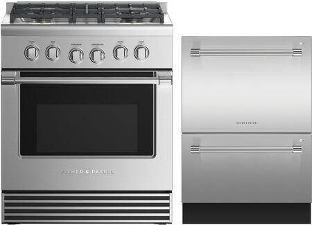 2 Piece Kitchen Appliances Package with RGV2304LN 30