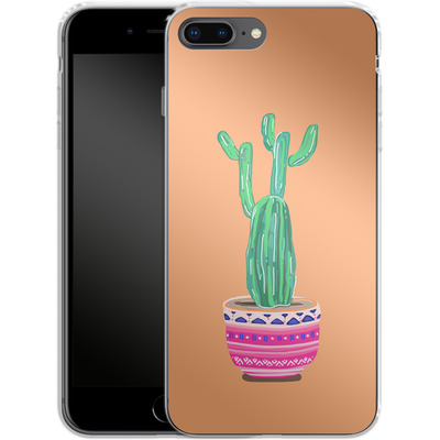 Apple iPhone 8 Plus Silikon Handyhuelle - Cacti Love von Mukta Lata Barua