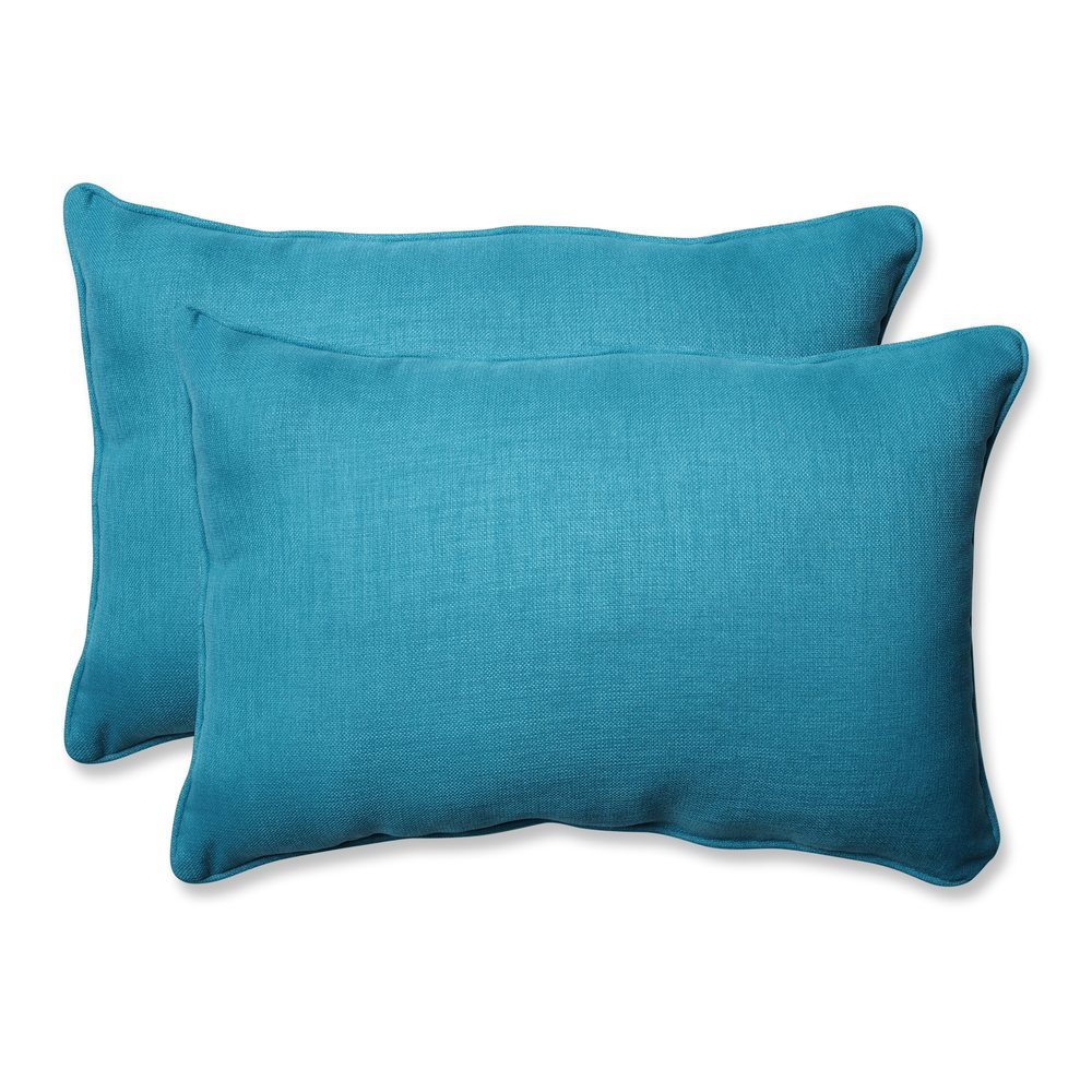 Pillow Perfect Outdoor/ Indoor Rave Peacock Throw Pillow (Set of 2) (18.5-inch Throw Pillow (Set of 2))