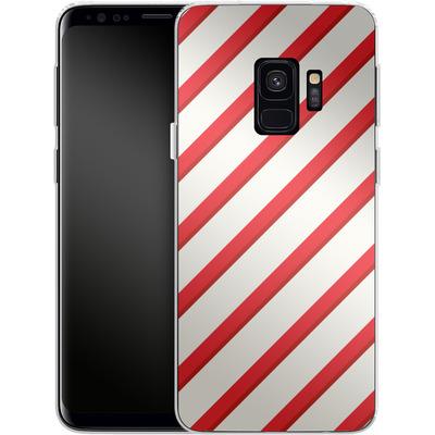 Samsung Galaxy S9 Silikon Handyhuelle - Candy Cane von caseable Specials