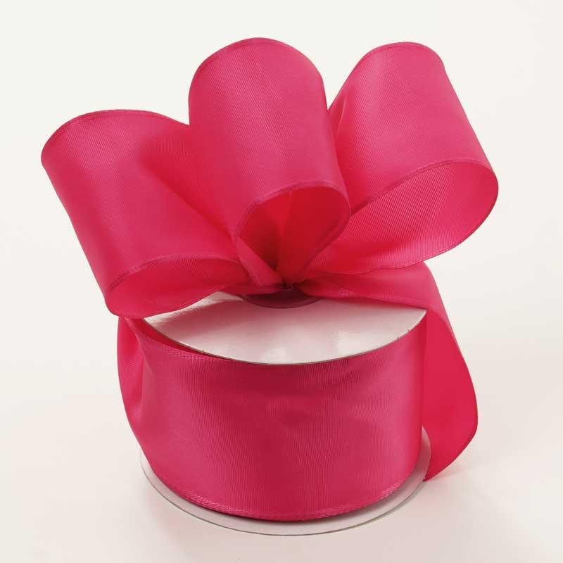 Grosgrain 2-1/2 X 25 Yards Hot Pink Trevia Taffeta Wired Ribbon by Ribbons.com