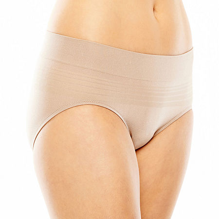 Warner's No Pinching. No Problems. Seamless Hipster Panty RU0501P, Medium , Beige