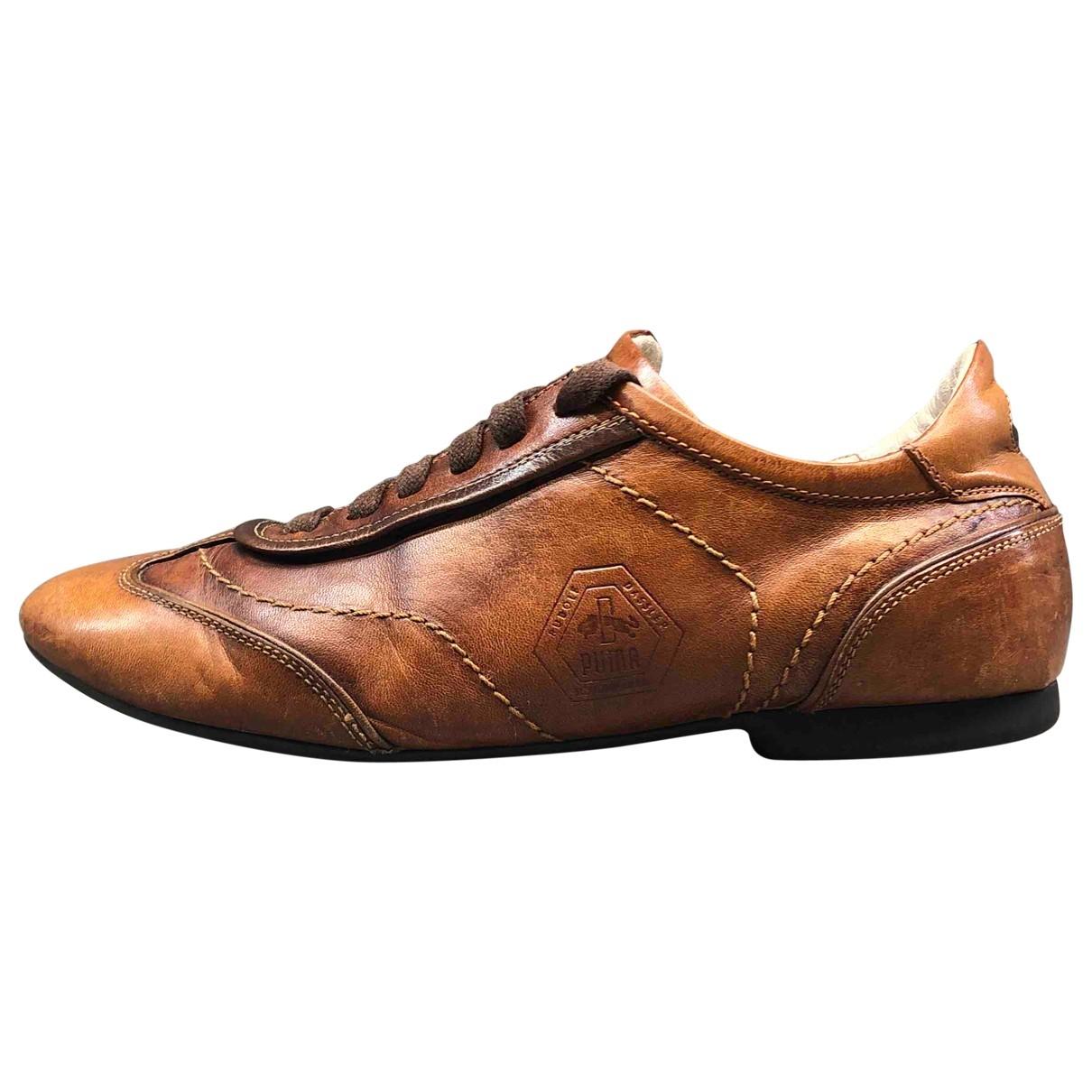 Puma - Derbies   pour homme en cuir - marron