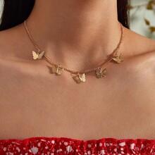 1pc Schmetterling Charm Halskette
