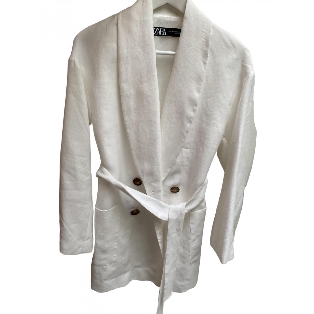 Zara \N White Linen jacket for Women S International