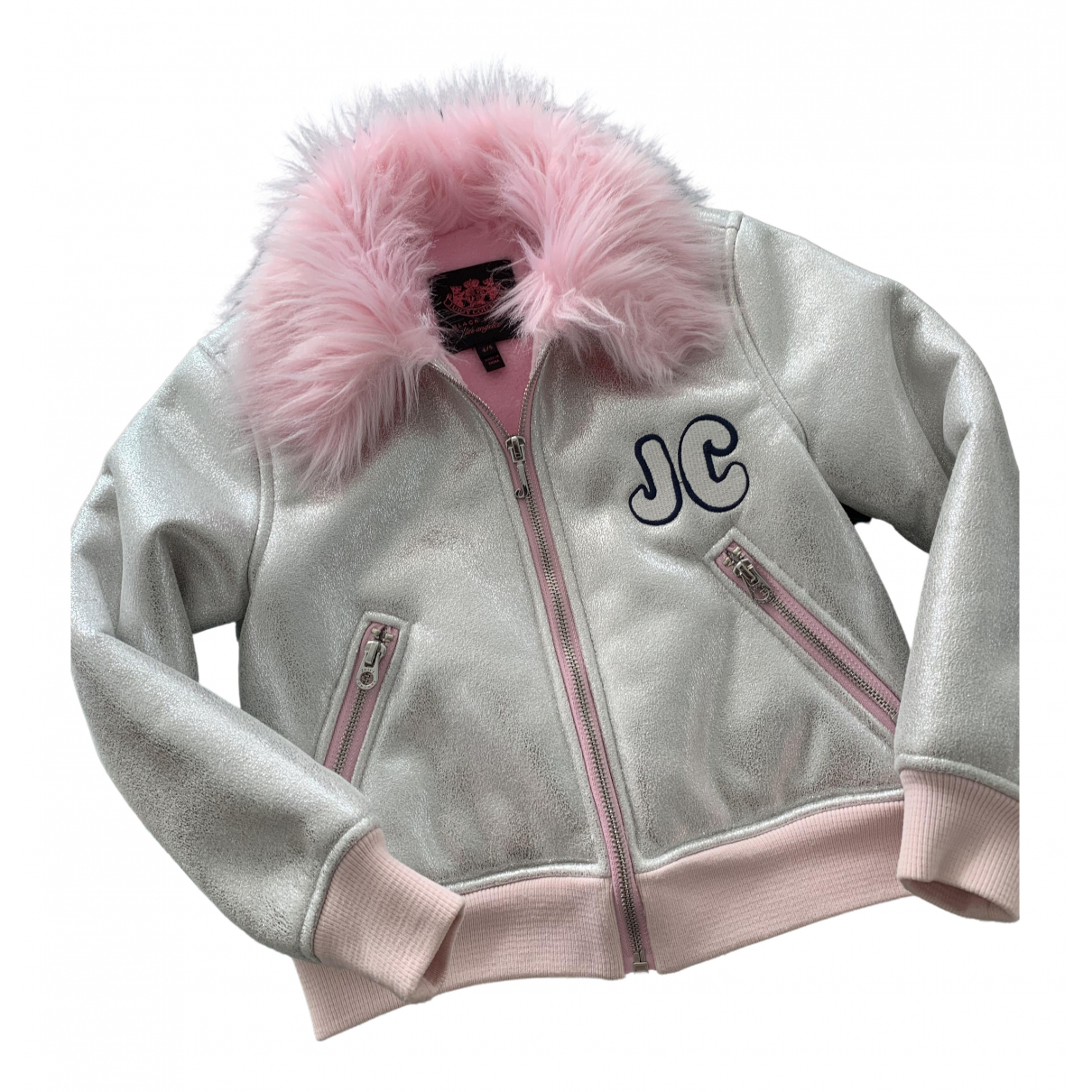 Juicy Couture \N Jacke, Maentel in  Silber Polyester