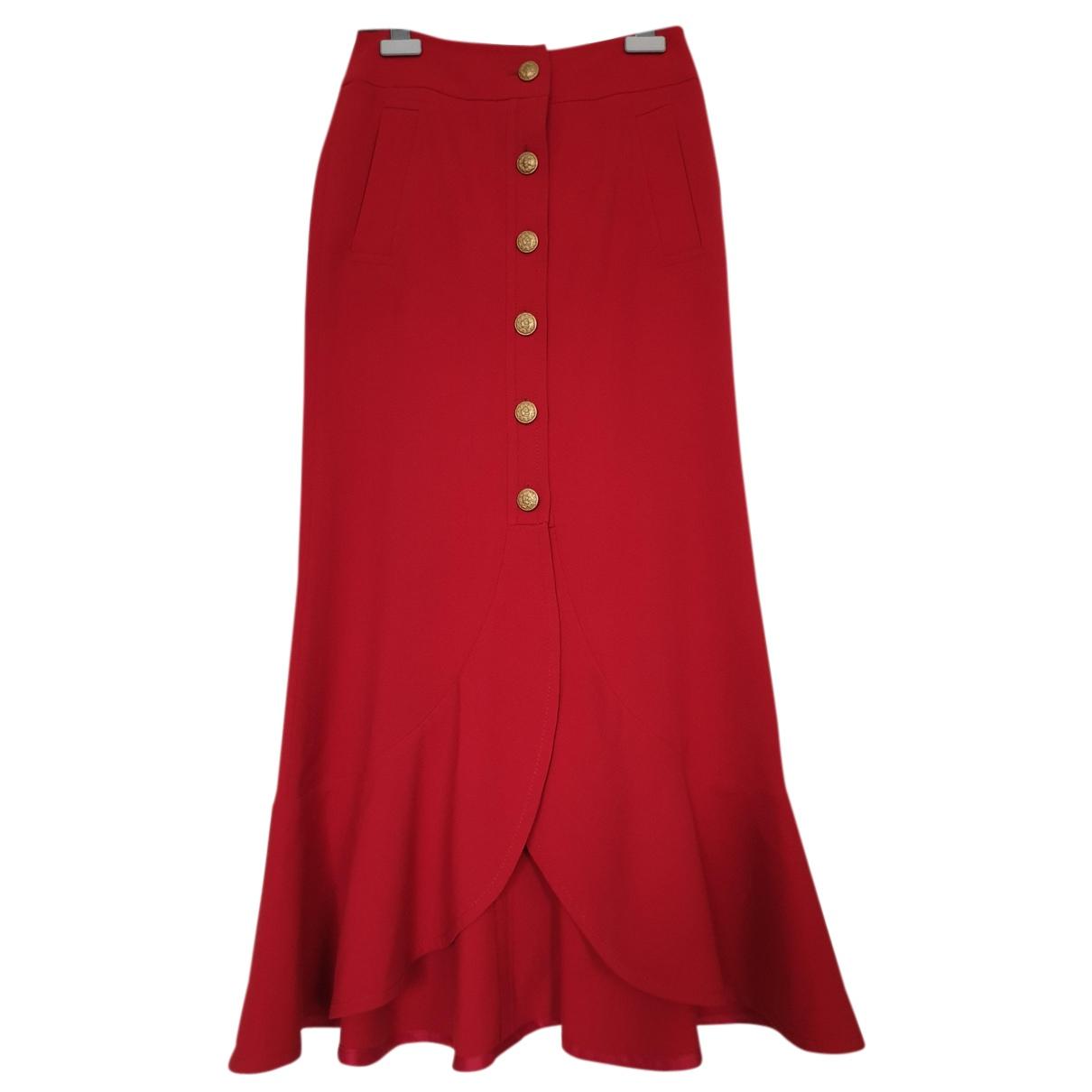 Alberta Ferretti - Jupe   pour femme en laine - rouge