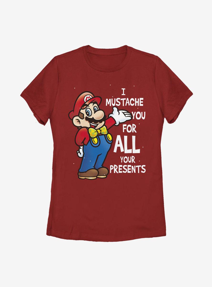 Super Mario All Presents Womens T-Shirt