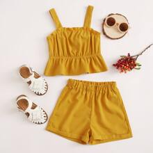 Toddler Girls Frill Cami Top With Shorts