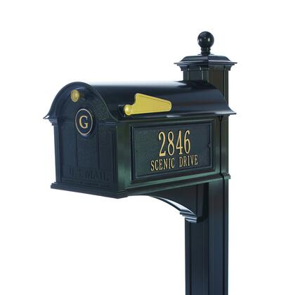 16236 Aluminum Balmoral Mailbox Side Plaques  Monogram and Post Package in