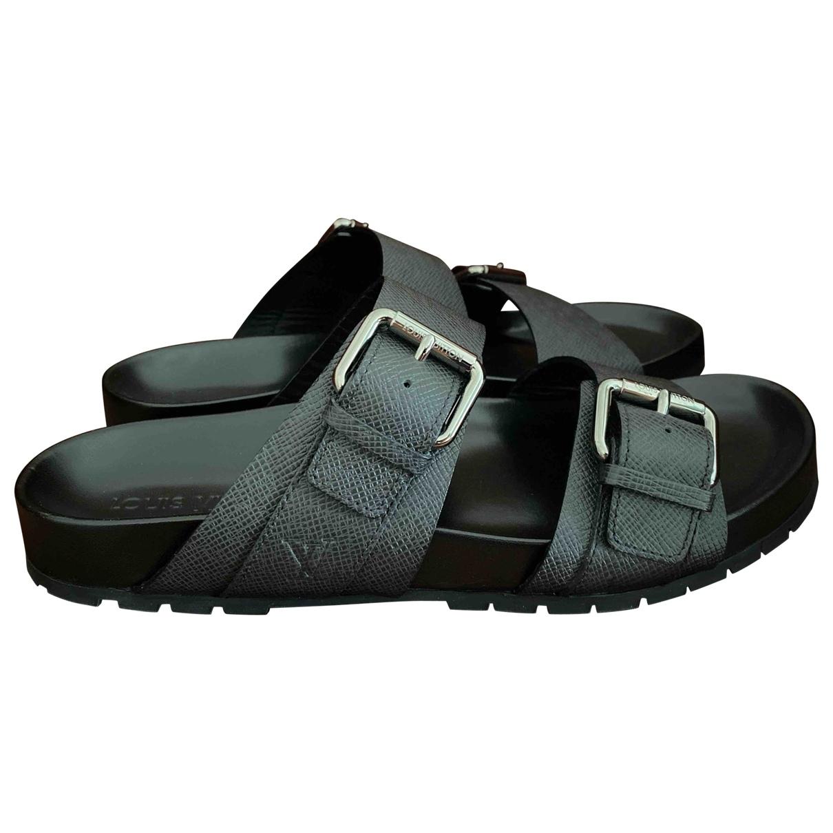 Louis Vuitton \N Black Leather Sandals for Men 9.5 US