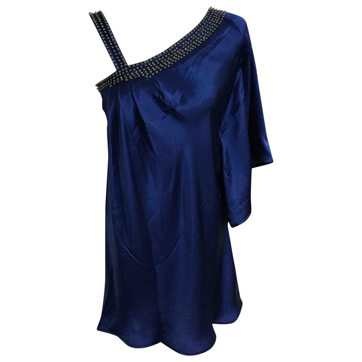 Paul & Joe \N Kleid in  Blau Seide