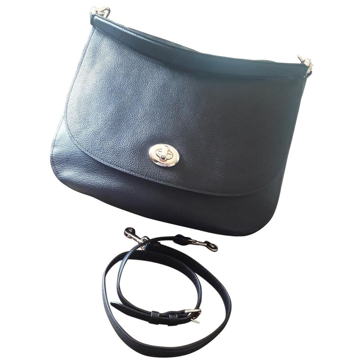 Coast \N Handtasche in  Schwarz Leder