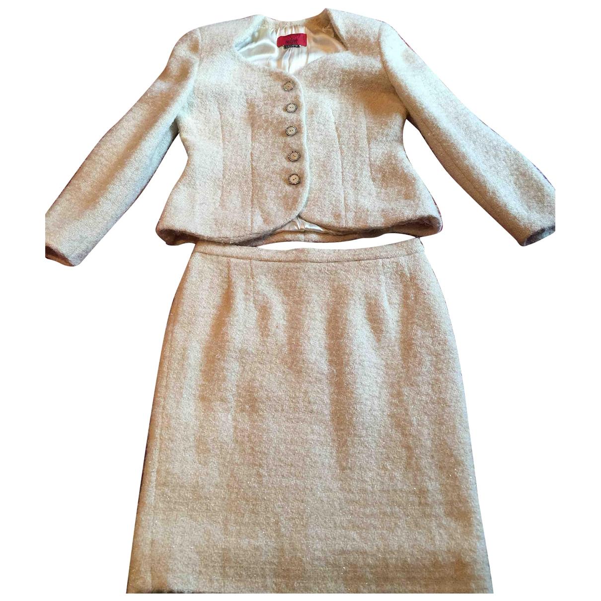 Valentino Garavani - Robe   pour femme en laine - blanc