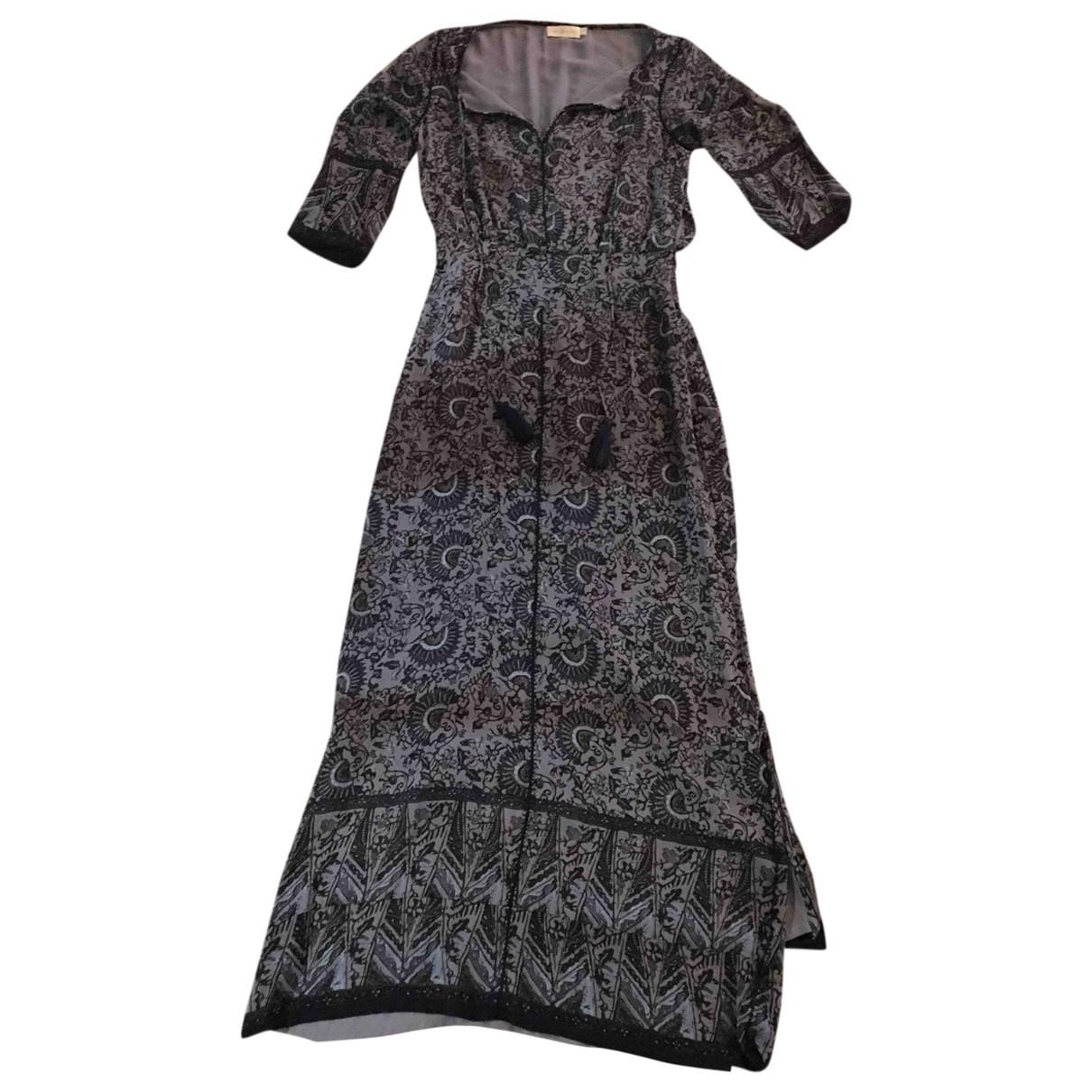 Tory Burch \N Kleid in  Grau Seide