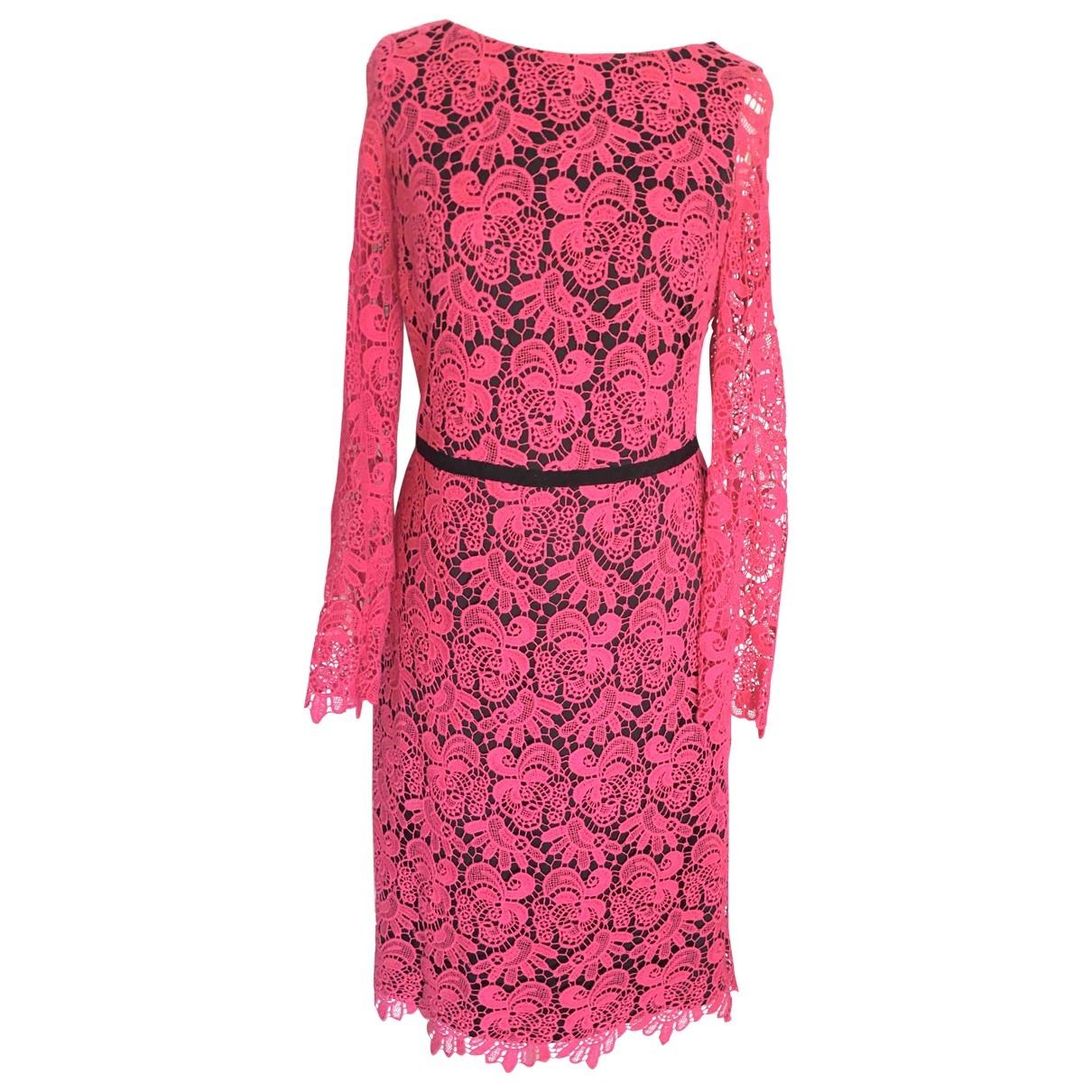 Mango \N Kleid in  Rosa Baumwolle - Elasthan