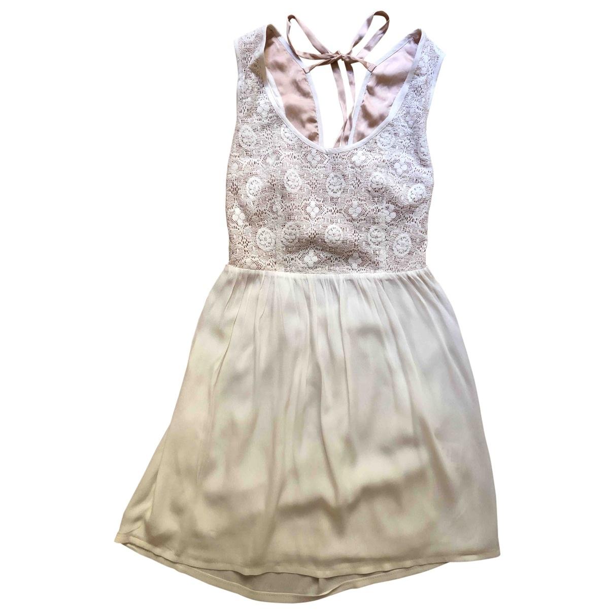 Claudie Pierlot \N Ecru Cotton dress for Women 36 FR