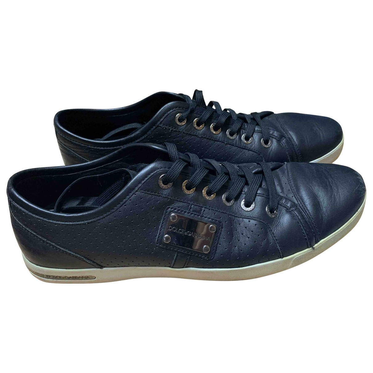 Dolce & Gabbana \N Navy Leather Trainers for Men 10.5 UK