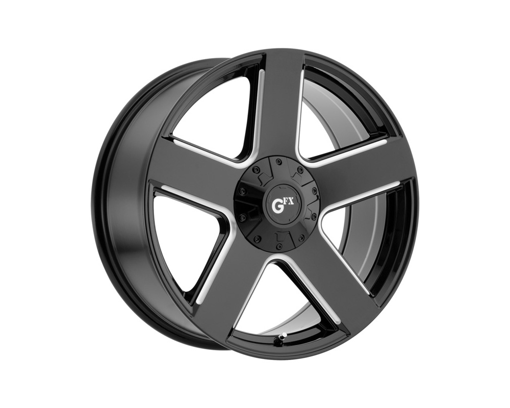 G-FX Wheels T52 885-6003-30 GB TR52 Gloss Black Milled Wheel 18x8.5 6x132/139.7 30mm