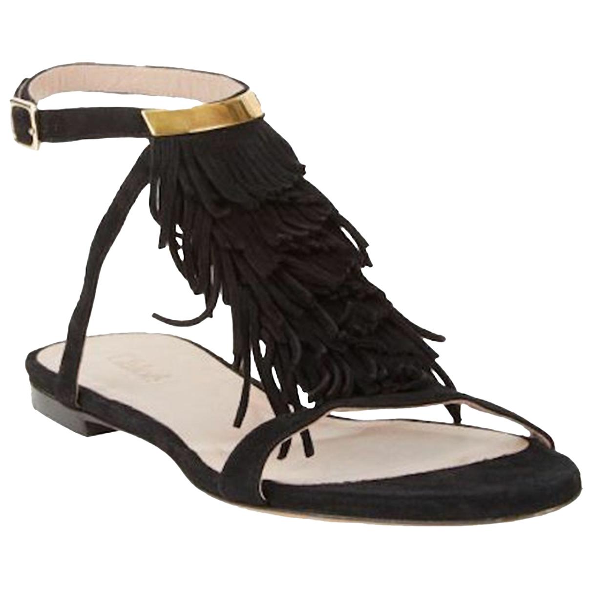 Chloé \N Black Suede Sandals for Women 38 EU