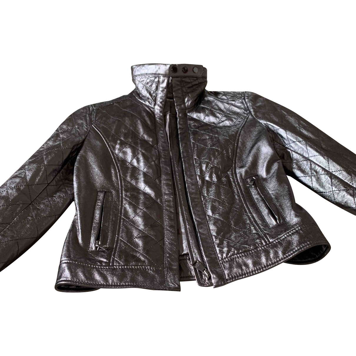 Dolce & Gabbana - Veste   pour femme en cuir - metallise