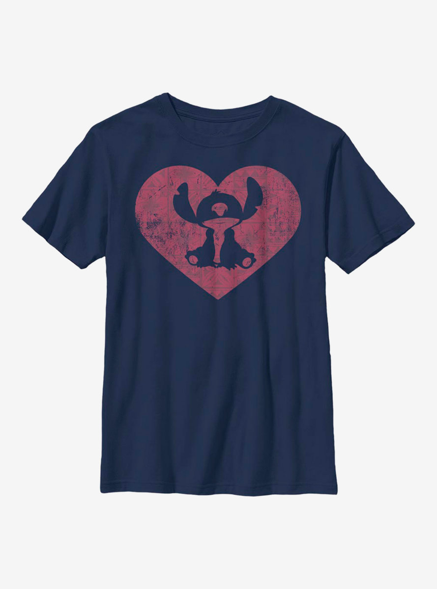 Disney Lilo And Stitch Heart Youth T-Shirt