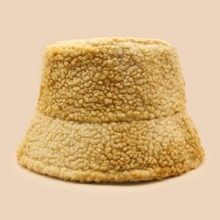 Plain Fluffy Bucket Hat