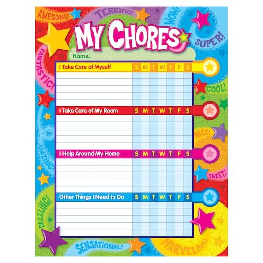 Trend Enterprises Praise Words `n Stars Success Charts/chore Charts, 6 Pads | Michaels®