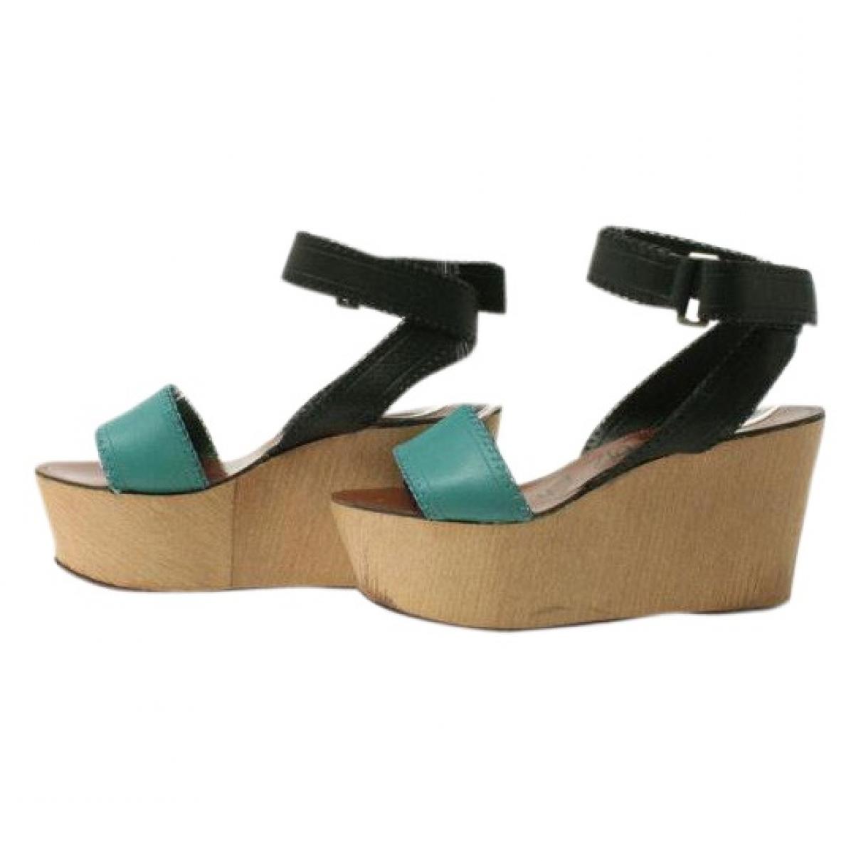 Lanvin - Sandales   pour femme en cuir - vert