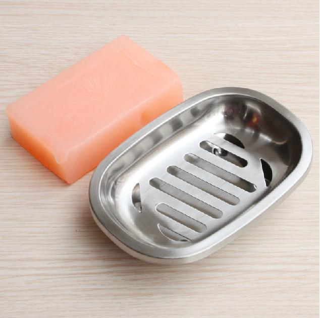 Fashion Concise Leaking Design Stainless Steel Soap Box