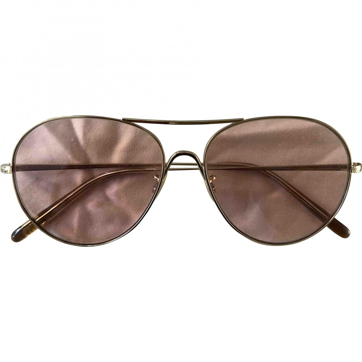 Oliver Peoples \N Pink Metal Sunglasses for Women \N