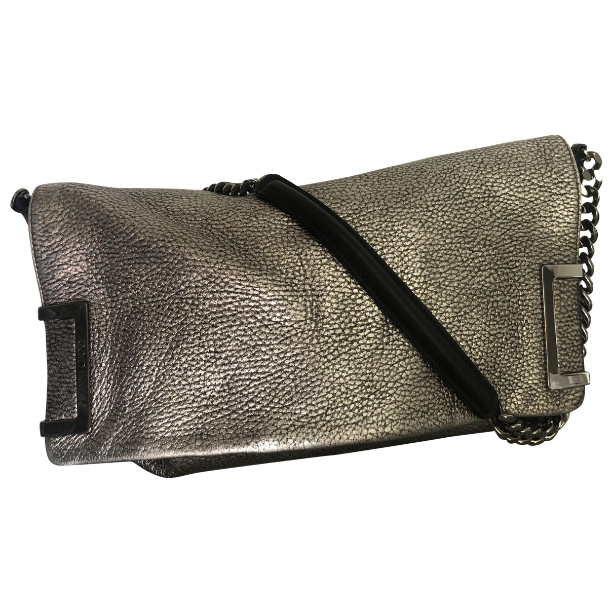Jimmy Choo \N Clutch in  Metallic Leder