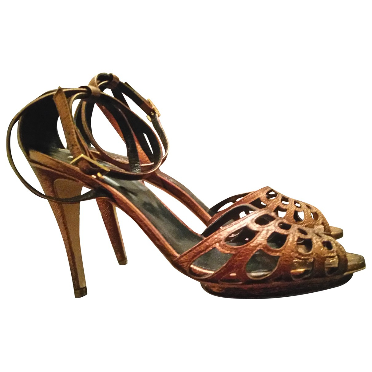 Hobbs N Gold Leather Sandals for Women 39 EU