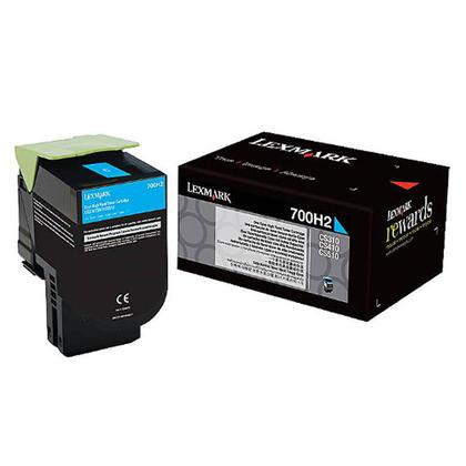 Lexmark 700H2 70C0H20 cartouche de toner originale cyan haute capacité