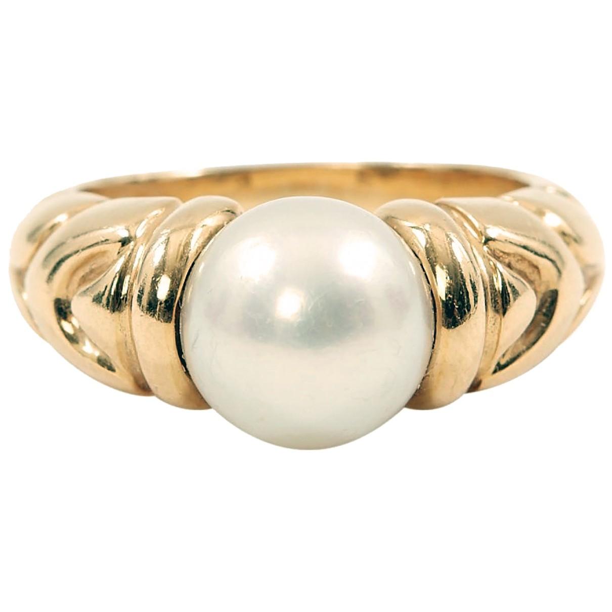 Bvlgari - Bague   pour femme en perle - jaune