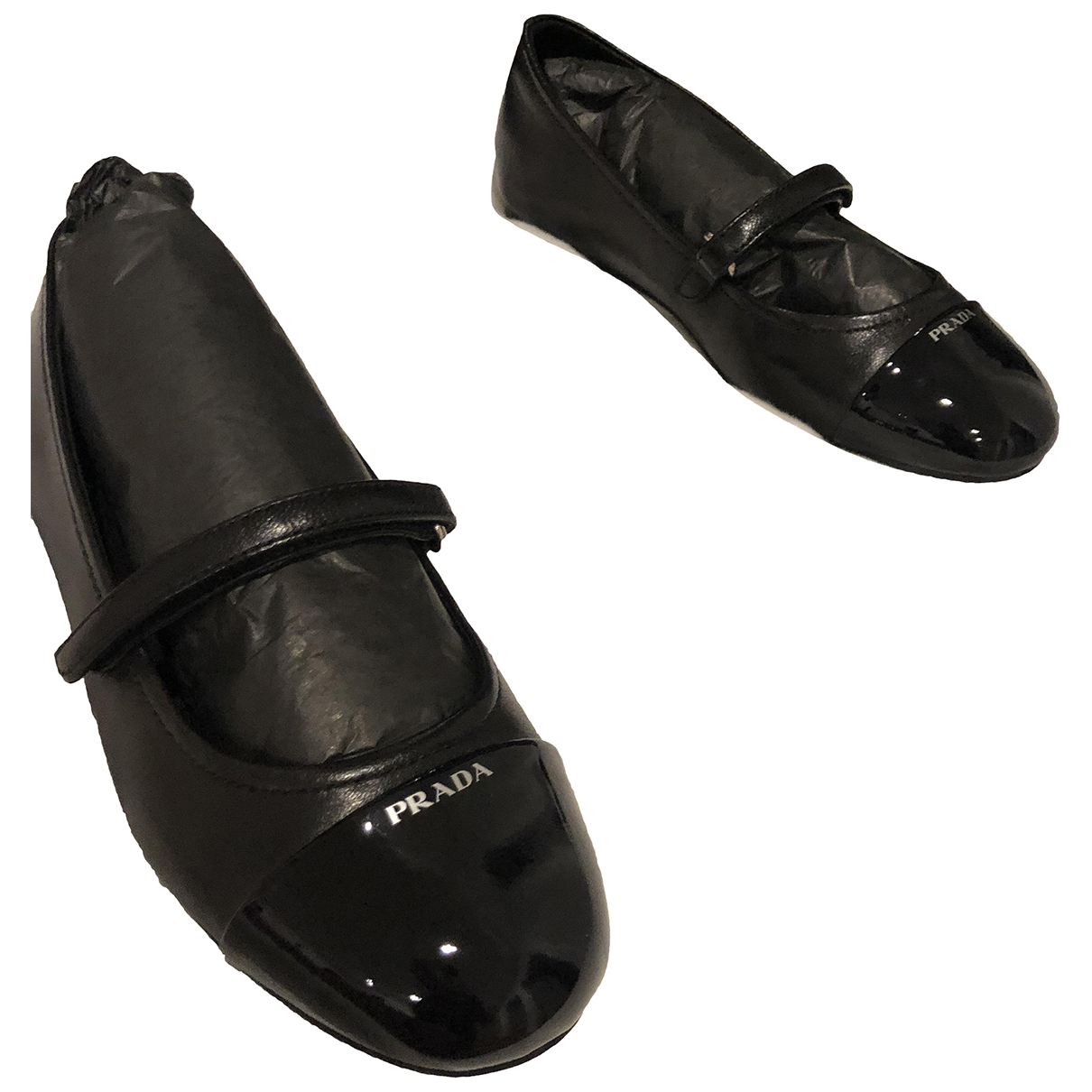 Prada - Ballerines   pour enfant en cuir - noir
