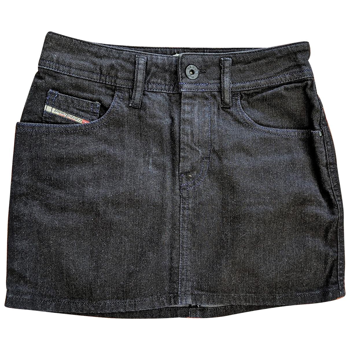 Diesel \N Black Denim - Jeans skirt for Women XS International