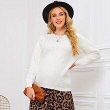 Maternity Maternity Pullover mit sehr tief angesetzter Schulterpartie