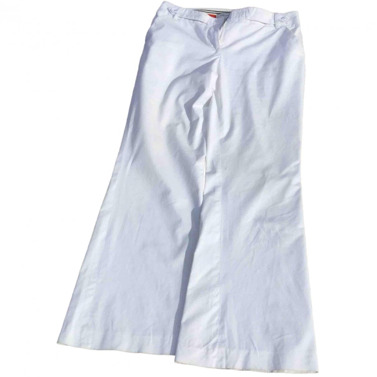 Diane Von Furstenberg \N White Cotton Trousers for Women 38 FR
