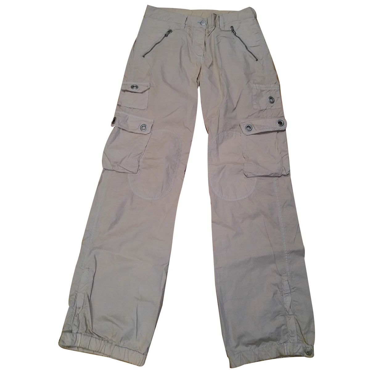 D&g \N Beige Cotton Trousers for Women 38 IT